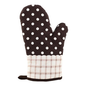Kitchen Oven Mitts Cotton Cooking Oven Gloves Green, 2-Piece Set