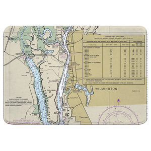 Nc New Bern Nc Nautical Chart Memory Foam Bath Mat Contemporary Bath Mats By Island Girl Home Inc