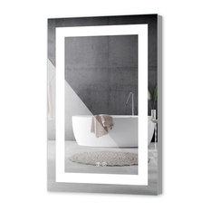 "LED Backlit Mirror Illuminated Bathroom Mirror With Sensor Touch, 24""x36""-2 Butt"