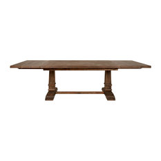 Hudson Extension Dining Table, Rustic Java