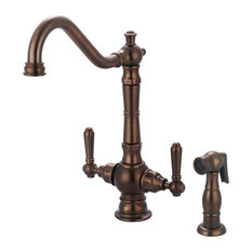 Americana Two Handle Kitchen Faucet, Oil Rubbed Bronze