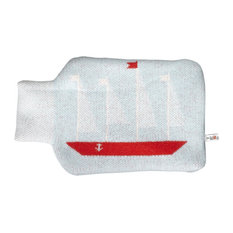 """""""Message in a Bottle"""" Hot Water Bottle and Cover, 2-Piece Set"""