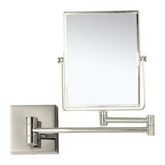 Double Face 3x Makeup Mirror, Satin Nickel