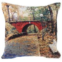 Red Bridge Decorative Pillow Cushion Cover, A - H 16 x W 16