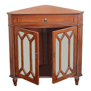 Walnut Corner Cabinet Traditional Accent Chests And