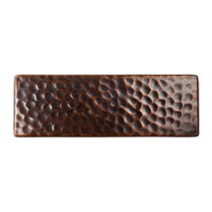"The Copper Factory CF145 6 x 2 x 1/4"" Solid Hammered Copper 6""x2"" Decorative Ac"