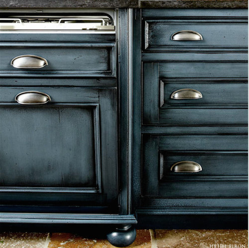 Glazing White Cabinets With Stain: Kitchen Cabinet Color For Large U-shaped Kitchen/great Room