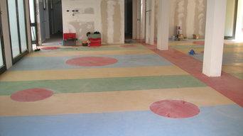 pavimento linoleum asilo