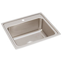 """Elkay Lustertone Stainless Steel 25""""x22"""", Single Bowl Drop-In Sink, 1 Hole"""