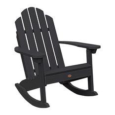 Westport Adirondack Rocking Chair, Black