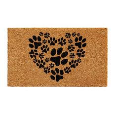 """Heart Paws Doormat, 24""""x36"""""""