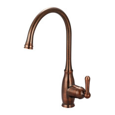 Olympia Faucets, Inc. - Single Handle Kitchen Faucet, Oil Rubbed Bronze - Kitchen Faucets