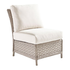 South Sea Rattan Mayfair Outdoor Armless Chair, Pebble 77852