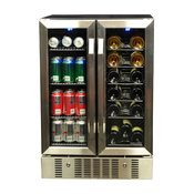 NewAir 18 Bottle and 60 Can Dual Zone Wine and Beverage Cooler