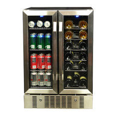 NewAir - NewAir 18 Bottle and 60 Can Dual Zone Wine and Beverage Cooler - Beer and Wine Refrigerators