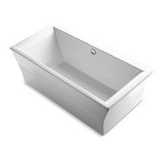 """Kohler Stargaze 72"""" X 36"""" Freestanding Bath & Center Drain, White"""
