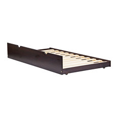 100% Solid Wood Twin Trundle On Wheels, Java