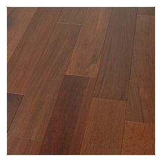 "4 3/4""x1/2"" Brazilian Walnut Prefinished Engineered Wood Flooring, 1 Box"
