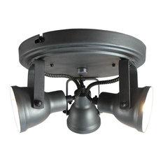 Max 3-Lamp LED Spotlight, Burnt Steel