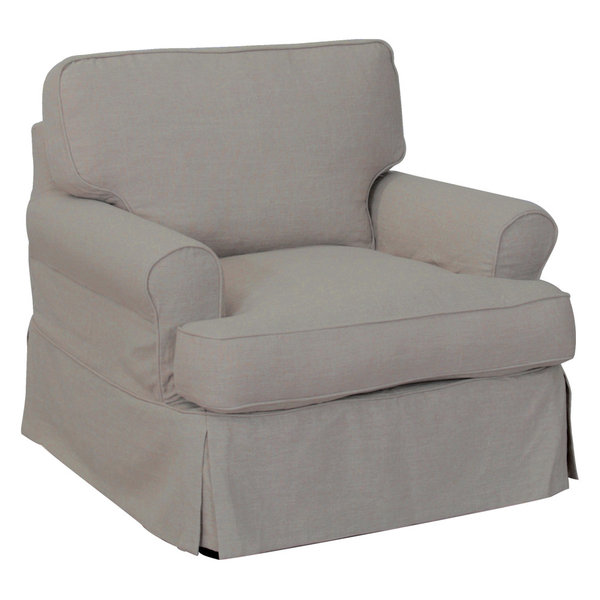 Sunset Trading T, Cushion Chair Sli-Pieceover | Light Gray