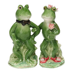 Alfrogo and Frogalina Froggy Couple Frogs Salt and Pepper Shaker Set