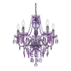Fulton 5-Light Chandelier, Grape