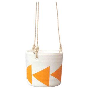 Zigge Arrow Hanging Pot, Orange