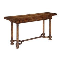 Console Table Woodbridge Tudor Flip Top Wood Acacia C-Stretchers
