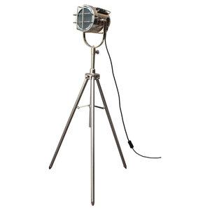 Mini Vintage Antique Finish Tripod Floor Lamp
