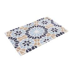 Tim Doormat, Blue and Beige