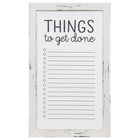 Rustic To Do List Wall Mount Whiteboard, White