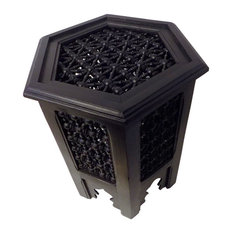 Moroccan Furniture Bazaar   Moroccan Octagonal Moucharabieh Table   Side  Tables And End Tables