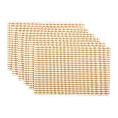 Tara Gold Ribbed Placemat, Set of 6