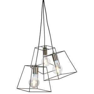 Palido 3-Light Ceiling Light, Black