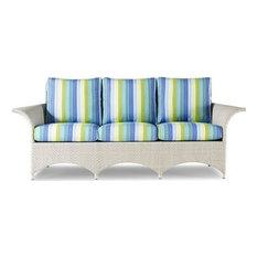 Sofa Woodbridge Ventana Outdoor Gray Woven Resin Upholstered