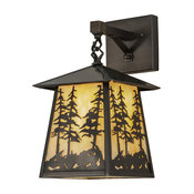 """8"""" Stillwater Tall Pines Hanging Wall Sconce"""
