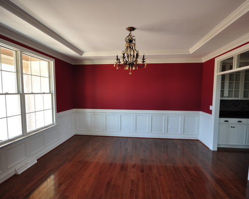 Luxury dining room design ideas renovations photos with for Dining room ideas with red walls