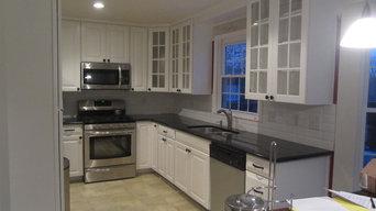 kitchen remodel--white with granite and backsplash