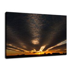 """Sunset Indian River Inlet"" Coastal Landscape Fine Art Canvas Wall Art Print, 24"