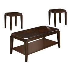 Acme Docila 3-Piece Coffee Table Set Walnut