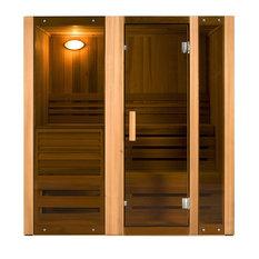 Canadian Cedar Indoor Wet Dry Sauna Steam Room - 3 kW ETL Certified Heater