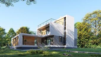 Проект 2-этажного жилого дома в д. Залесная, Пермского края, S=154,1 кв.м