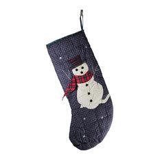 "Christmas Stockings Blue/Green Cotton 20 3/4""H x 7 1/2""W  "