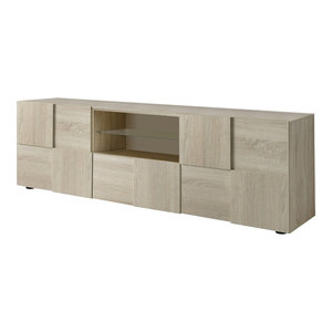 Diana TV Unit, LED Lights, 181 cm, Sonoma Oak