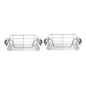 Set of 3 Kitchen Baskets, Stainless Steel, 500 mm