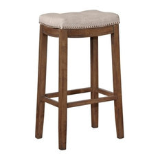 Linon Claridge 32.5-inch Wood Bar Stool In Rustic Brown