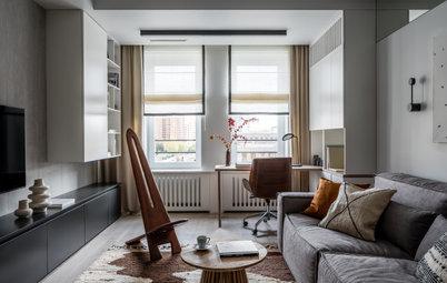 Houzz тур: 54 кв.м — квартира с «луной» в спальне