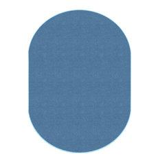 Americolors Oval Blue Bird Rug, 7'6x12'
