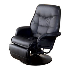 Coaster Berri Swivel Recliner With Flared Arms