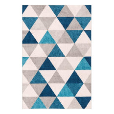 "Well Woven Mystic Alvin Modern Geometric Blue 5'3""x7'3"" Area Rug"